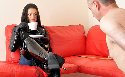 Caned Boots Slave - Femdom Worship-2871