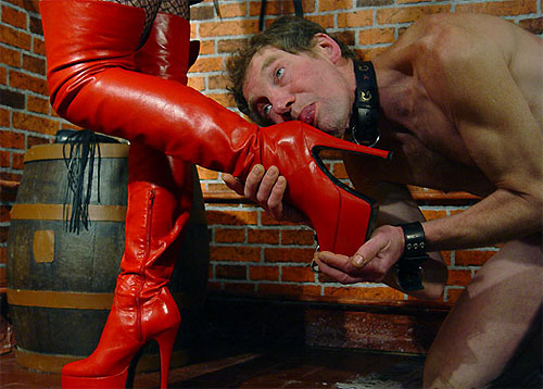 Red boots femdom